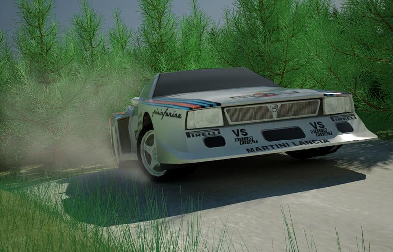 lancia beta turbo monte carlo 3d model