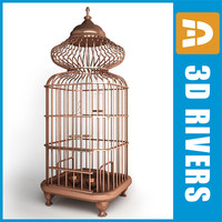 3ds max retro birds cage 03