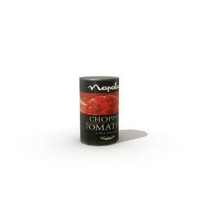 tinned tomatoes 3d model