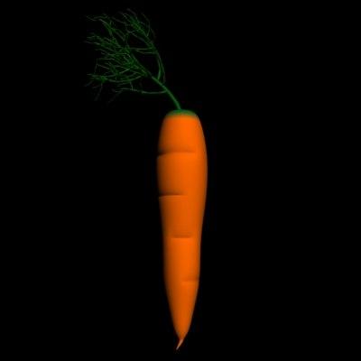 free carrot 3d model