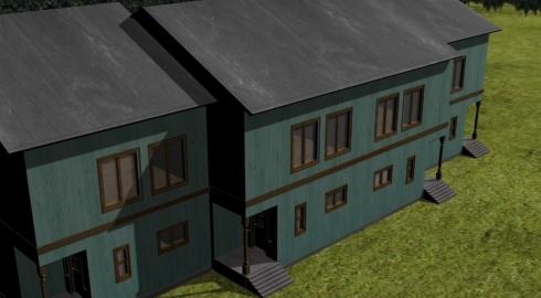 camp housing 3d 3ds