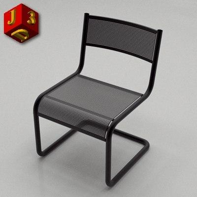 3d model iron chair 01