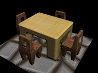 wood chairs table max