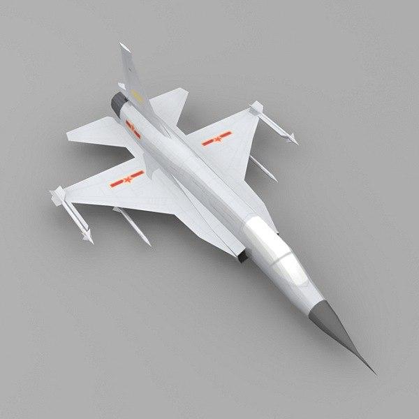 3d max plane chengdu jf-17
