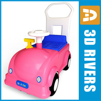 pink toy car obj