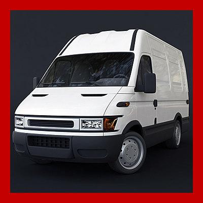 delivery van car 3ds