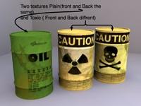 oil drum 3d obj