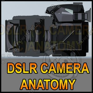 3ds max sliced dslr camera lens