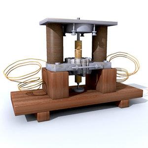 3ds max electrostatic motor