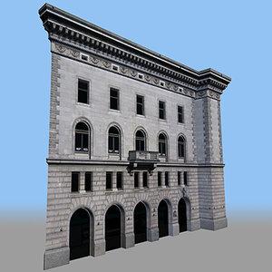 modular facades fbx