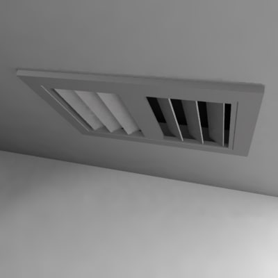 3ds max ceiling ventilation