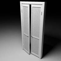 French Louver Doors - Accurate and scale