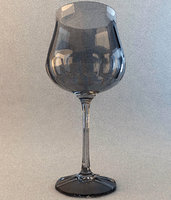 3d model wine glass