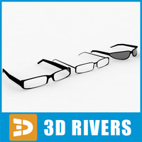 Glasses set by 3DRivers