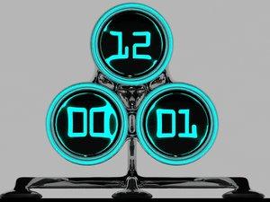3ds max hi clock