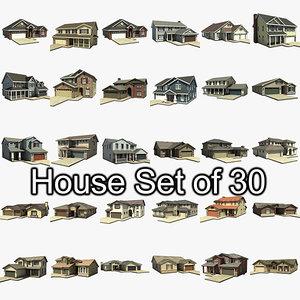 house set 30 3d max