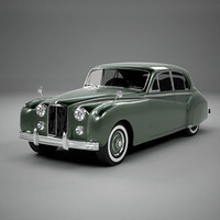 3d model classic british limo