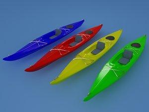 3ds max ll bean kayak