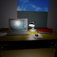 laptop desk 3d x