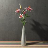 madonna lily in vase