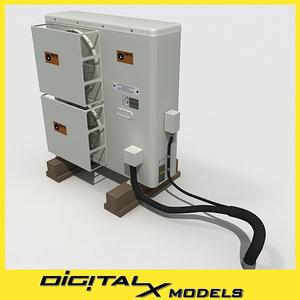 3d model rooftop hvac cooler