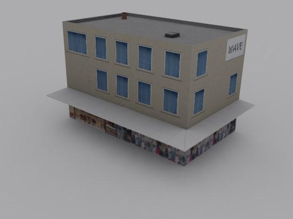 3d model modern store