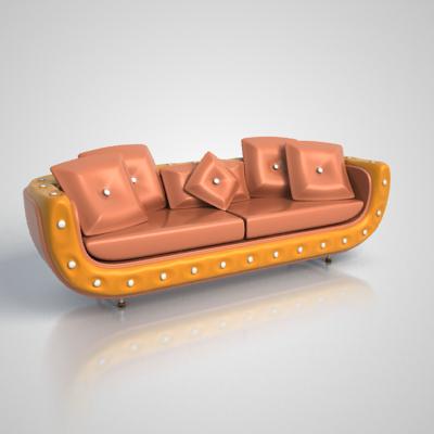 sofa antique 3d model