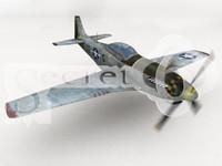 p-51 mustang 3d model