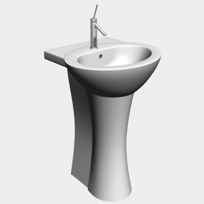 ceramic wash-stand 3d model