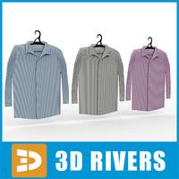 men shirts set 3d max