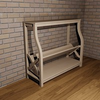 dwg wood sofa table rack