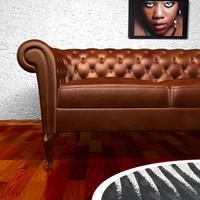 c4d luxurious leather sofa