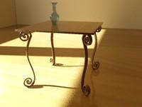 3dsmax table room vase