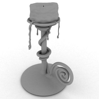 3ds max candlestick candle light