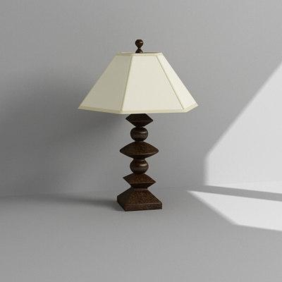 3dsmax bedside lamp