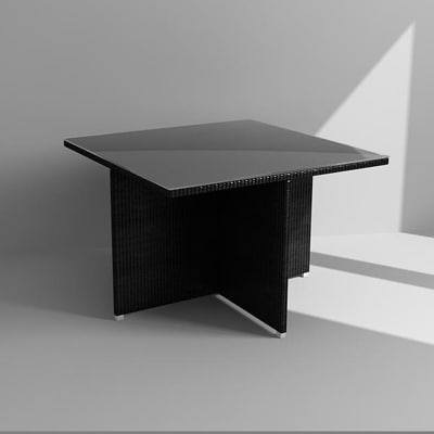 3d outdoor table model