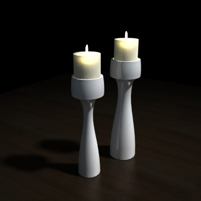 3d candles mood ambiance