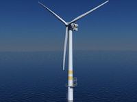 3d model of offshore wind turbine