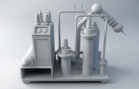 industrial machinery 3d max
