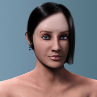 3d model beautiful female head