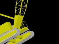 crawler crane 3d dwg