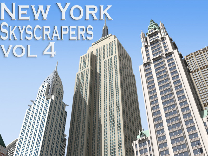 new york skyscrapers building 3d model