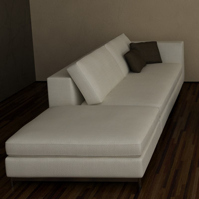 contemporary albers sofa minotti 3d model