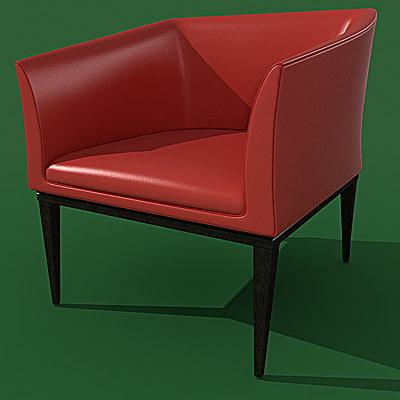 armchair potocco venus 3d max