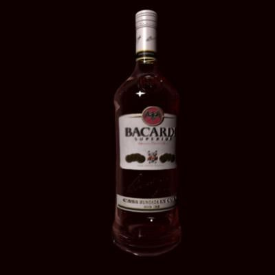 3d model bacardi bottle