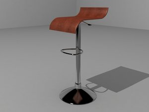 3d model banco chocolate chair