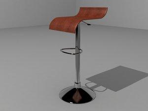 3d model banco chocolate chair