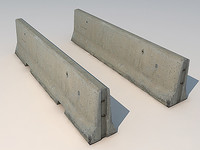 concrete barricade 3d model