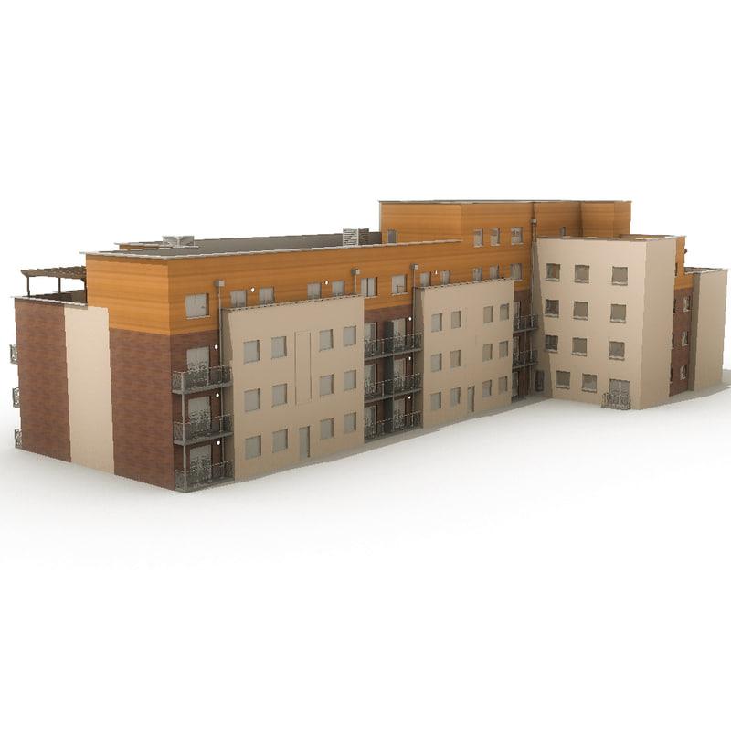 apartments 20 3d model