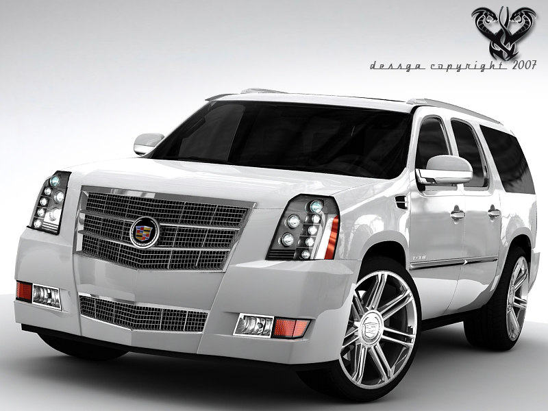 3d model cadillac escalade platinum